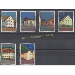 Liechtenstein - 1978 - Nb 641/646 - Monuments