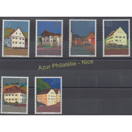 Liechtenstein - 1978 - No 641/646 - Monuments