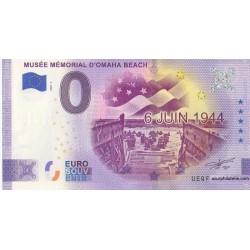 Euro banknote memory - 14 - Musée mémorial d'Omaha Beach - 2020-3 - Anniversary