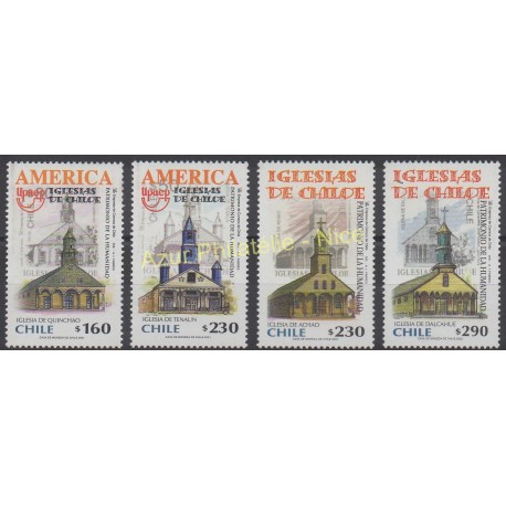 Chile - 2001 - Nb 1598/1599 - 1640/1641 - Monuments