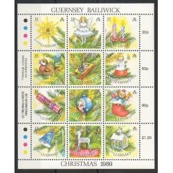 Guernesey - 1989- No 472/483 - Noël