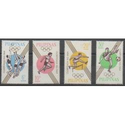 Philippines - 1964 - No 605/608 - Jeux Olympiques d'été