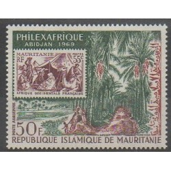 Mauritania - 1969 - Nb PA84 - Stamps on stamps - Philately