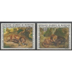 Mauritanie - 1973 - No PA133/PA134 - Peinture