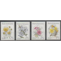 South Africa - Bophuthatswana - 1987 - Nb 186/189 - Flowers