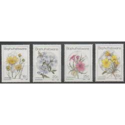 South Africa - Bophuthatswana - 1987 - Nb 186/189 - Flowers