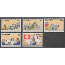 Saint Vincent - 1991 - Nb 1339/1342 - Various Historics Themes