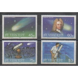 Saint Vincent - 1986 - Nb 913/916 - Astronomy