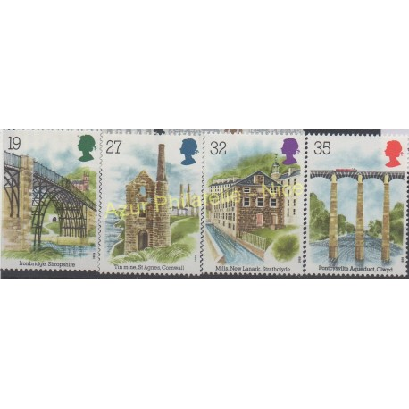 Great Britain - 1989 - Nb 1384/1387 - Bridges