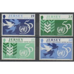 Jersey - 1995 - No 717/720 - Nations unies