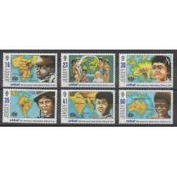 Jersey - 1996 - No 722/727 - Nations unies - Enfance