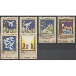 Saint Vincent - 1977 - Nb 499/504 - Christmas
