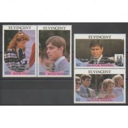 Saint-Vincent - 1986 - No 957/960 - Royauté - Principauté