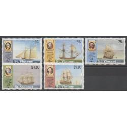 Saint Vincent - 1989 - Nb 1126/1130 - Boats