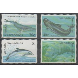 Grenadines - 1990 - Nb 1087/1090 - Mamals - Sea life