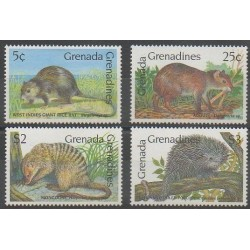 Grenadines - 1990 - Nb 1095/1098 - Mamals
