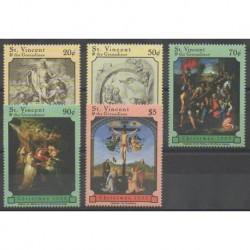 Saint-Vincent - 1999 - No 3781/3785 - Noël - Peinture
