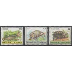 Saint-Vincent (Iles Grenadines) - 1979 - No 159/161 - Reptiles