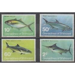 Saint-Vincent (Iles Grenadines) - 1981 - No 216/219 - Vie marine