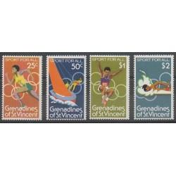 Saint-Vincent (Iles Grenadines) - 1980 - No 182/185 - Jeux Olympiques d'été