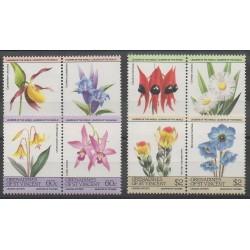 Saint Vincent (Grenadines) - 1985 - Nb 392/399 - Flowers