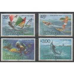 Saint-Vincent (Iles Grenadines) - 1985 - No 408/411 - Tourisme