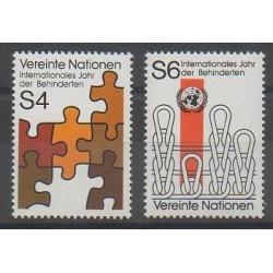 Nations Unies (ONU - Vienne) - 1981 - No 17/18