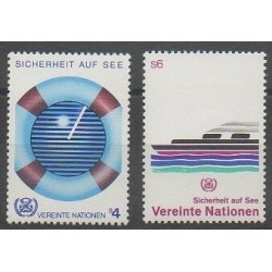 Nations Unies (ONU - Vienne) - 1983 - No 30/31 - Navigation