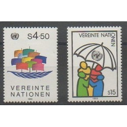 United Nations (UN - Vienna) - 1985 - Nb 49/50