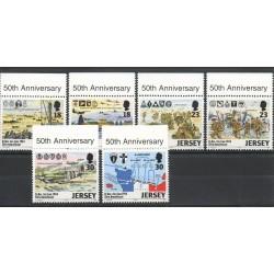 Timbres - Thème Seconde Guerre mondiale - Jersey - 1994- No 653/658
