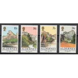 Aurigny (Alderney) - 1986- No 28/31 - Monuments