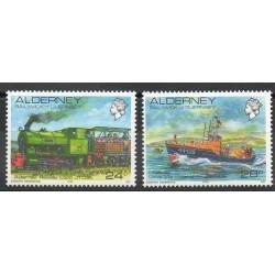 Aurigny (Alderney) - 1993- No 59/60 - Bateaux