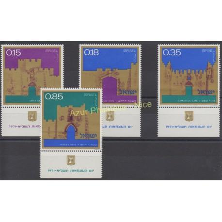 Israël - 1971 - No 437/440 - Monuments