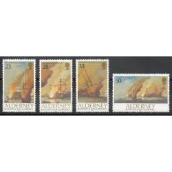 Aurigny (Alderney) - 1992- Nb 55/58 - Boats
