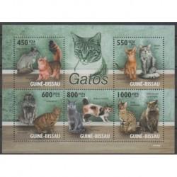 Guinea-Bissau - 2010 - Nb 3212/3216 - Cats