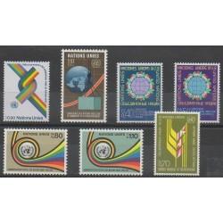 Nations Unies (ONU - Genève) - Année complète - 1976 - No 56/62