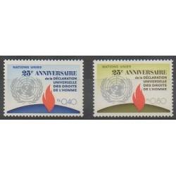 Nations Unies (ONU - Genève) - 1973 - No 35/36 - Droits de l'Homme