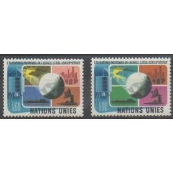 Nations Unies (ONU - Genève) - 1975 - No 46/47 - Télécommunications