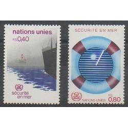 United Nations (UN - Geneva) - 1983 - Nb 112/113 - Boats