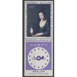 Madagascar - 1968 - Nb PA108 - Paintings - Philately