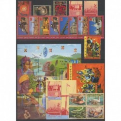 United Nations (UN - Geneva) - Complete Year - 2000 - Nb 400/423 - BF14/BF15