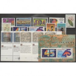 United Nations (UN - Geneva) - Complete Year - 1990 - Nb 186/201 - BF6
