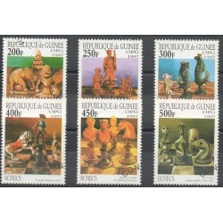 Guinea - 1997- Nb M1666/M1671 - Chess - Used
