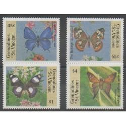 Saint-Vincent (Iles Grenadines) - 1989 - No 589E/589H - Insectes