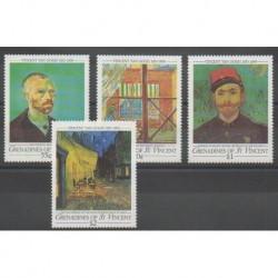 Saint-Vincent (Iles Grenadines) - 1991 - No 652/655 - Peinture