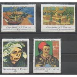 Saint-Vincent (Iles Grenadines) - 1991 - No 700/703 - Peinture