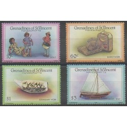 Saint Vincent (Grenadines) - 1986 - Nb 451/454 - Craft