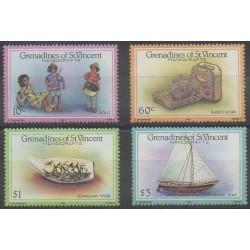 Saint-Vincent (Iles Grenadines) - 1986 - No 451/454 - Artisanat ou métiers
