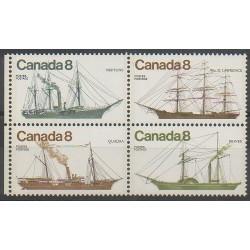 Canada - 1975 - Nb 580/583 - Boats