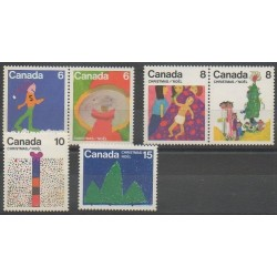 Canada - 1975 - Nb 584/589 - Christmas - Children's drawings